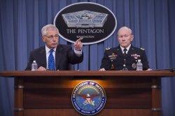 Defense Secretary Hagel Speaks on New Security Reviews in Washington