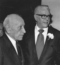 George Raft and Desi Arnaz Sr. attend Rosary Mass for Jimmy Durante