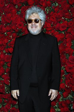 Pedro Almodovar arrives for the Museum of Modern Art Film Benefit honoring Pedro Almodovar in New York
