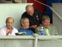 BUSH ATTENDS CUBS VS. NATIONALS MLB GAME IN WASHINGTON