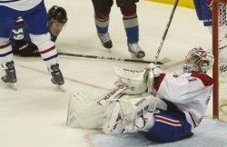 Avalanche Galiardi Scores Against Canadiens Goalie Price in Denver