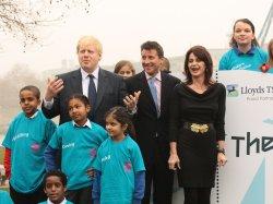 London Mayor Boris Johnson launches 2012 tickets sale.