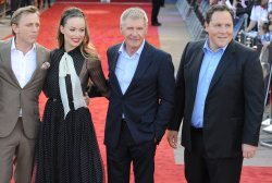 "Daniel Craig, Olivia Wilde, Jon Favreau and Harrison Ford attend ""Cowboys and Aliens"" premiere in London"