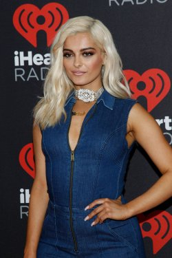 Bebe Rexha arrives for the iHeartRadio Music Festival