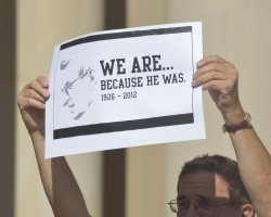 Rally for Board of Trustees Resignation at Penn State University