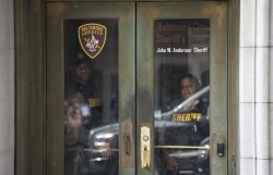 Security at Officer Caesar Goodson's trial in Baltimore
