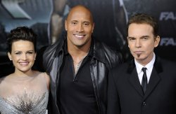 """Carla Gugino, Dwayne Johnson and Billy Bob Thornton attend the premiere of the film """"Faster"""" in Los Angeles"""