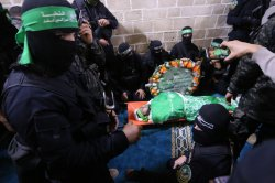 Funeral of Hamas senior militant Mazen Fuqaha, Shot Dead by Gunmen in Gaza