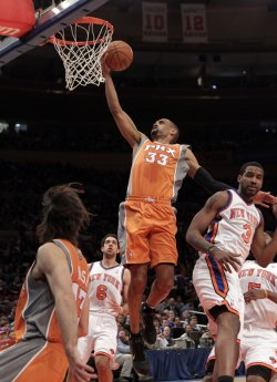 Phoenix Suns Grant Hill at Madison Square Garden in New York