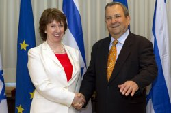 European Union Foreign Policy Chief Catherine Ashton in Tel Aviv
