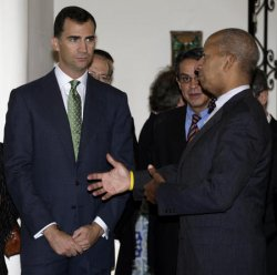 SPANISH CROWN PRINCE FELIPE VISITS THE FORMER RESIDENCE OF THE SPANISH AMBASSADOR IN WASHINGTON