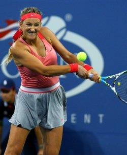 Daniela Hantuchova takes on Victoria Azarenka in quarterfinals match at the U.S. Open in New York