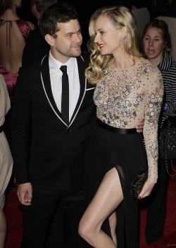 Diane Kruger and Joshua Jackson arrive at the Costume Institute Gala Benefit in New York