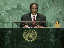 PRESIDENT MUGABE OF ZIMBABWE ADDRESSES THE GENERAL ASSEMBLY AT THE UNITED NATIONS
