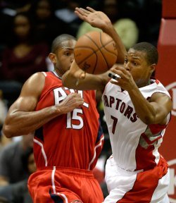The Atlanta Hawks play the Toronto Raptors in Atlanta