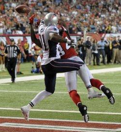 The Atlanta Falcons play the New England Patriots