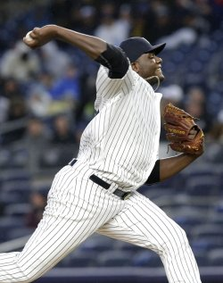 New York Yankees Michael Pineda throws a pitch