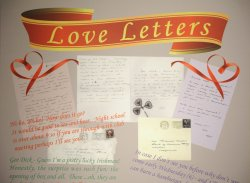 Love letters written by ex-President Richard Nixon displayed at the Nixon Presidential Library in Yorba Linda, California