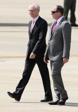 European Commission Pres. van Rompuy departs Washington for G-8 Summit at Camp David