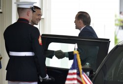 Australian PM arrives for talks at White House in Washington
