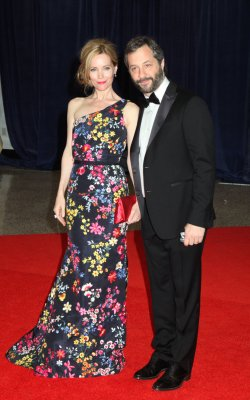 Leslie Mann and Judd Apatow arrive at the White House Correspondents' Association Dinner