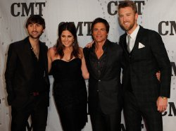 Lady Antebellum and Host Rob Lowe attend the CMT Artist of the Year in Nashville