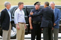 President Obama Visits Colorado In Wake Of Movie Theater Shootings