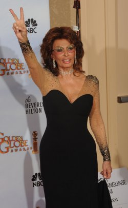 Sophia Loren appears backstage at the 67th annual Golden Globe Awards