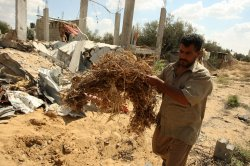 Palestinian Families Living Above Their Home Destroyed