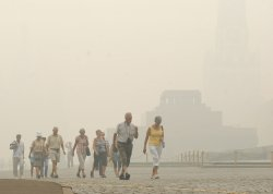 Moscow landscapes shrouded by record heavy smog