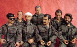 Bin Laden and Saddam Action Figures
