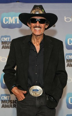 Richard Petty speaks to the press at the CMT Awards in Nashville