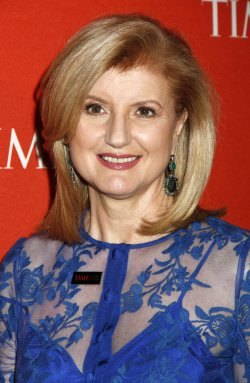 Arianna Huffington arrives for the Time 100 Gala in New York