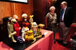 "Puppets from Jim Henson's ""Sam and Friends"" are donated to the Smithsonian's National Museum of American History in Washington"