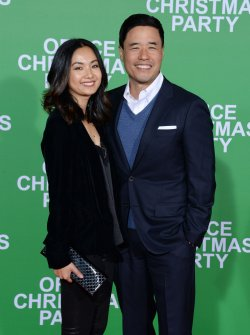 """Jae Suh Park and Randall Park attend the """"Office Christmas Party"""" premiere in Los Angeles"""