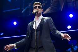 Robin Thicke at the Jingle Ball Concert in Washington, D.C.