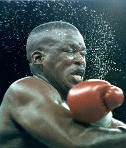 James Buster Douglas gets beaten by Evander Holyfield