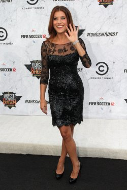 "Kate Walsh arrives at the ""Comedy Central Roast of Charlie Sheen"" in Culver City, California"