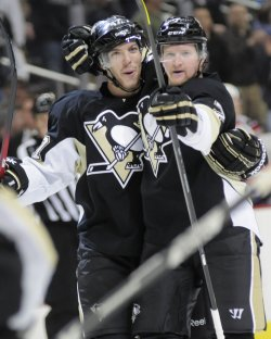 Pittsburgh Penguins Paul Martin Scores in Pittsburgh