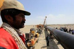 Iran-Pakistan gas pipeline in Iran