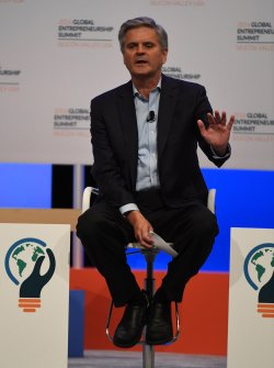 AOL co-founder Steve Case speaks at the GES 2016 at Stanford