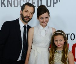 "Judd Apatow and daughters attend the ""This Is 40"" premiere in Los Angeles"