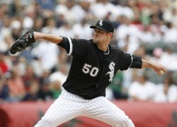 Chicago White Sox starting pitcher John Danks delivers a pitch against the Boston Red Sox in Chicago