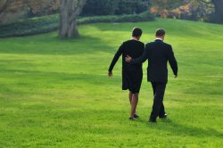 President Obama and the First Lady depart the White House in Washington