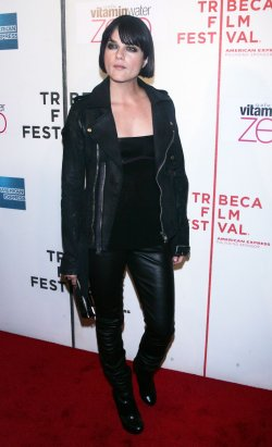 """Selma Blair arrives at the Tribeca Film Festival premiere of """"Nice Guy Johnny"""" in New York"""