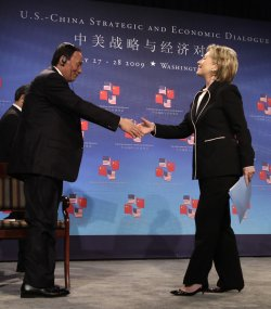 Secretary of State Clinton speaks at the U.S.-China Strategic and Economic Dialogue