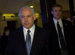 LIKUD LEADER BINYAMIN NETANYAHU ARRIVES AT A CONFERENCE IN JERUSALEM