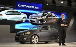 GM CEO Akerson talks at the 2011 NAIAS in Detroit