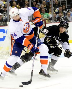 New York Islanders Brad Boyes in Pittsburgh