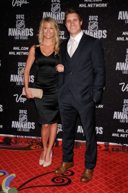 John Michael Liles and Erin Johnson arrive at the 2012 NHL Awards in Las Vegas